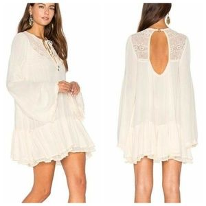 Free People One Night Victorian Lace Boho Tunic S